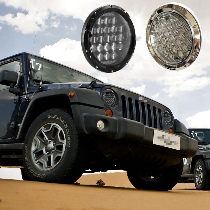 Pair 75W 7Inch 5D Headlight LED H4 Plug H13 DRL HI/LO Beam For Jeep JK TJ CJ Hummer 1pcs 5 75 inch led motorcycle projector daymakers 5 75 inch headlight for harleys dyan h4 hi lo beam lights lamp bulb angle eye