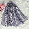 Fêmea Elegante Bordado Floral Mujer Bufanda Chal Ethinic Algodão Do Vintage Das Senhoras Xales Cachecóis Longos Pashmina Roubou NS008