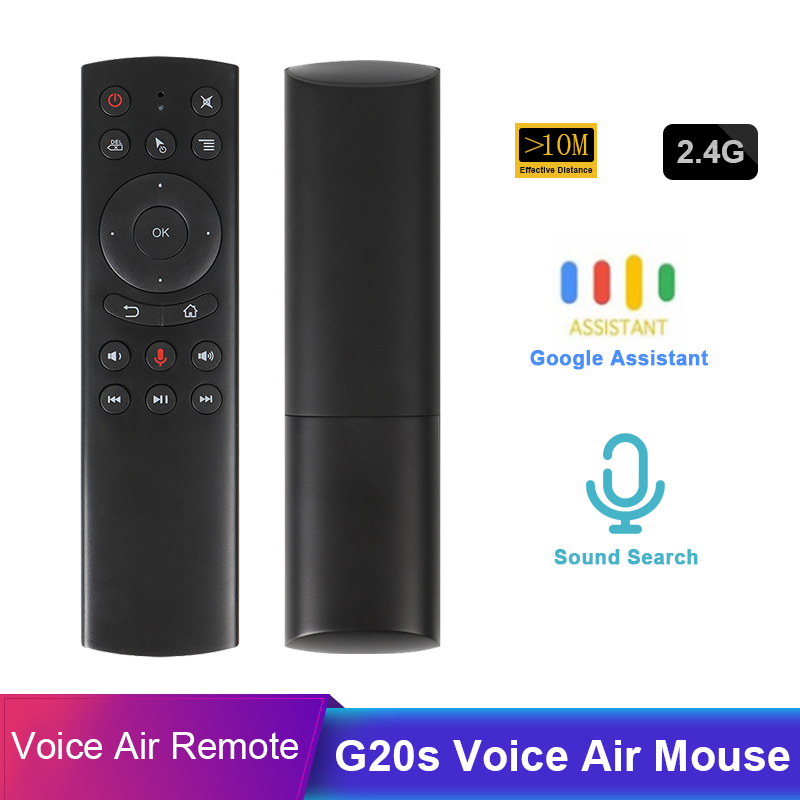 NEW G20 Voice Control 2.4G Wireless G20S <font><b>G10S</b></font> Fly Air Mouse Keyboard Motion Sensing Mini Remote Control For Android TV Box T9 image