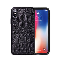 For iPhone7 7Plus 8 8Plus X XS MAX XR XS Phone Case Fitted Leather Case Men Women WaterProof Business Natural Crocodile Pattern