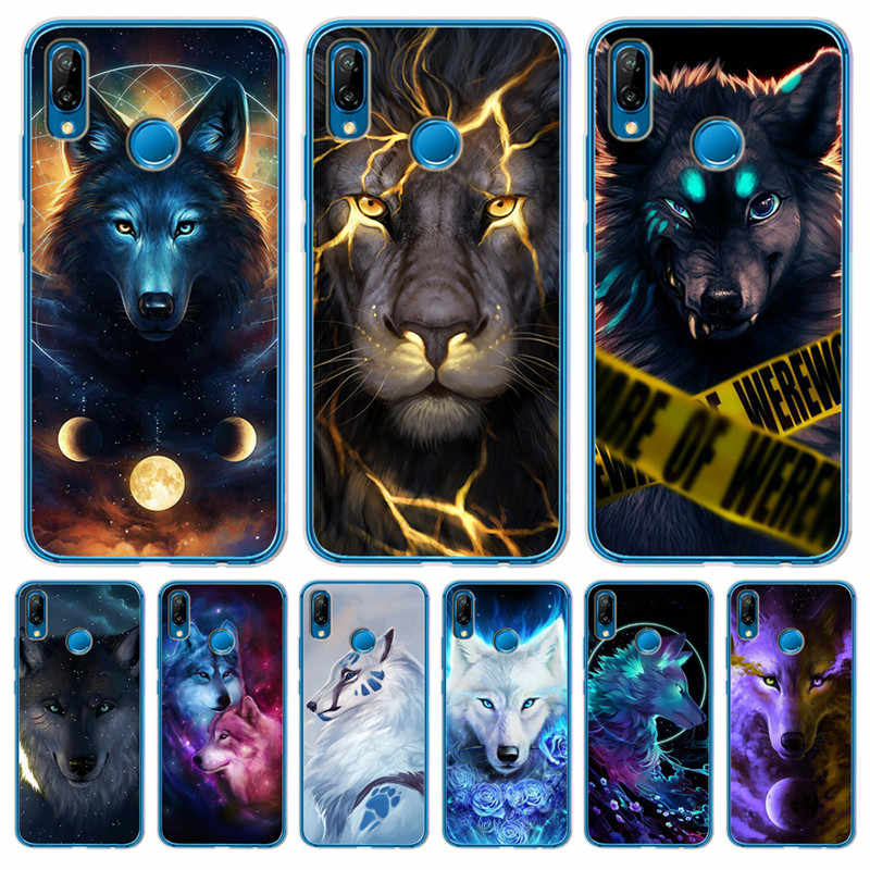 Luxury Starry animal lion wolf For Huawei Mate 9 10 20 P8 P9 P10 P20 P30 P Smart Lite Plus Pro phone Case Cover Coque Etui cute