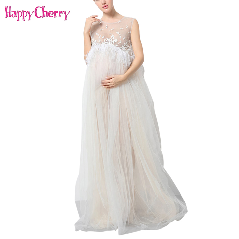 Maternity Photography Props Maxi Women Pregnancy Dress for Fancy Photo Shoot Lace Gown Elegant Maternity Sleeveless Long Dresses fashionable sweetheart neckline sleeveless lace spliced dress for women