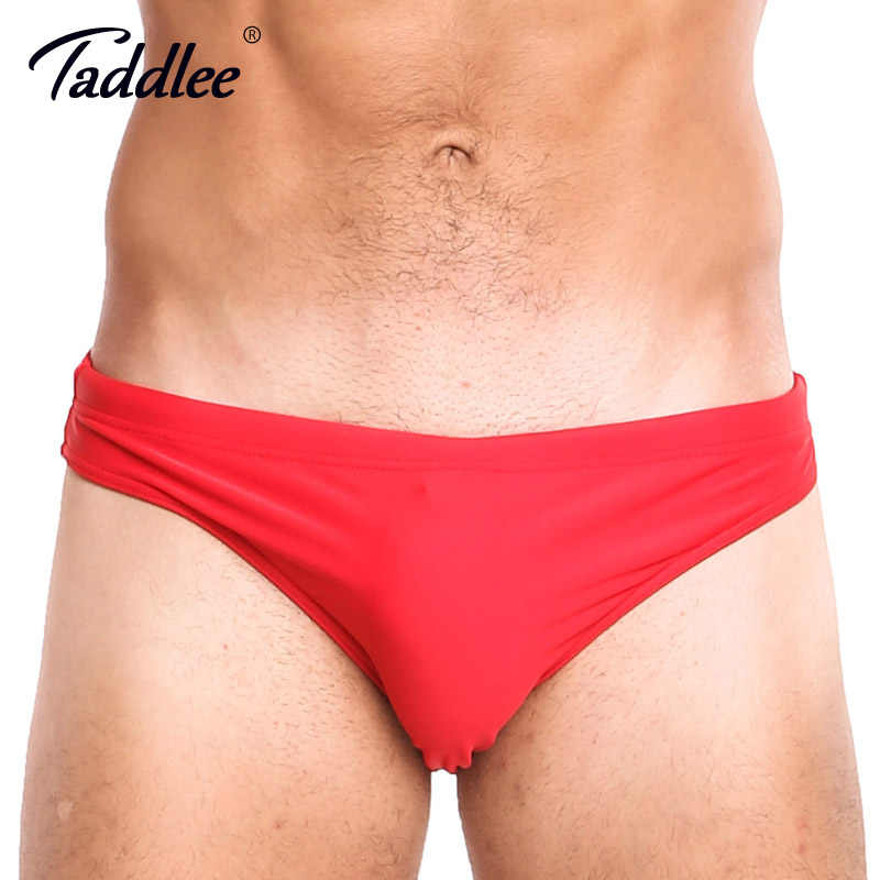 3ac1d9940a912 Taddlee брендовые сексуальные мужские плавки, мужские плавки, купальный  костюм с низкой посадкой, бикини