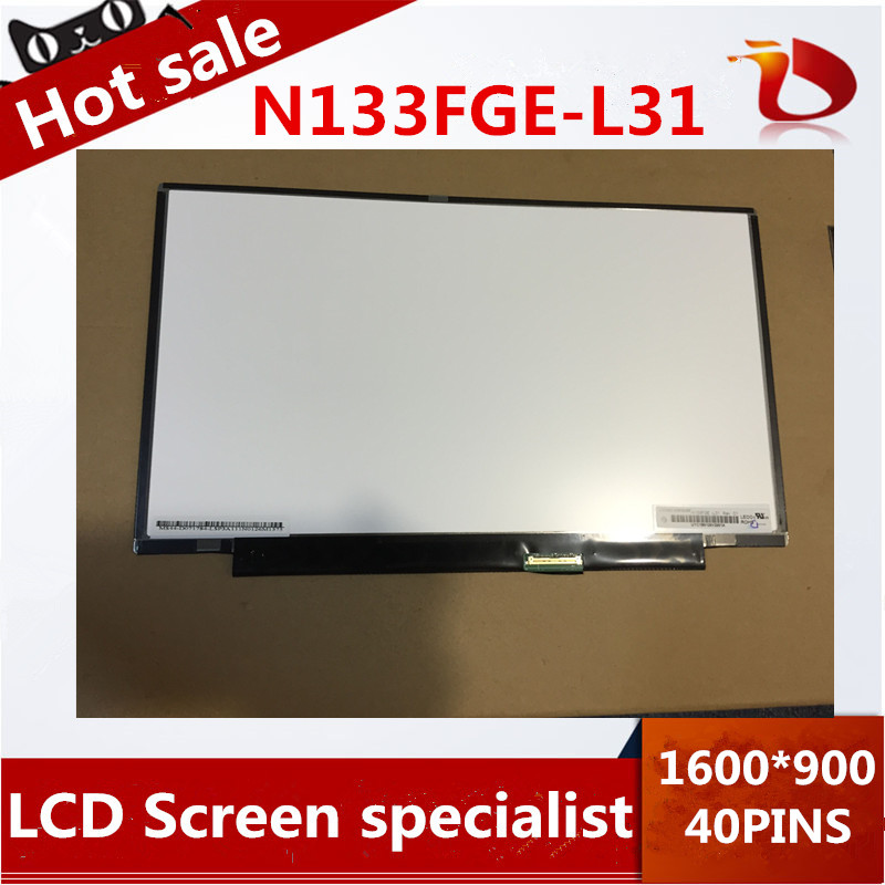 Shenzhen HongGuang LCD Tech Store New A+13.3 inch LCD Laptop 1600x900 WideScreen HD N133FGE-L31 lcd screen display replacement repair part for SONY laptop