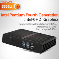 Intel Pentium3558 Fanless Mini PC Desktop Computer NUC Windows 10 linux thin client Nettop barebone system HTPC HD Graphics WiFi