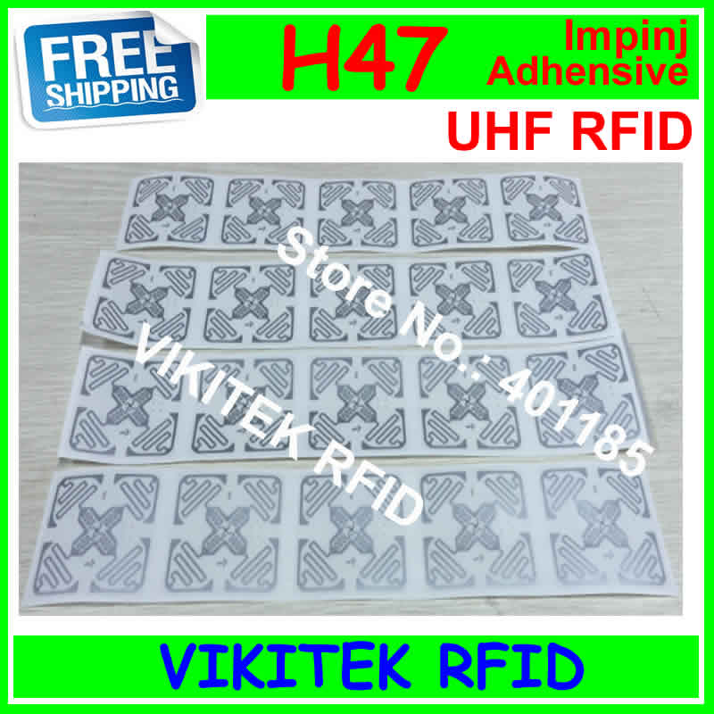Adhesive wet ture 3D inlay Impinj H47 sticker UHF RFID 20pcs per lots 860-960MHZ Monza4 915M EPC C1G2 ISO18000-6C free shipping terre d hermes m per 75 мл