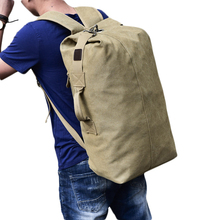 Large Capacity Rucksack Man Travel Bag Mountaineering Backpack Male Luggage Canvas Bucket Shoulder Bags for Boys Men Backpacks цены онлайн