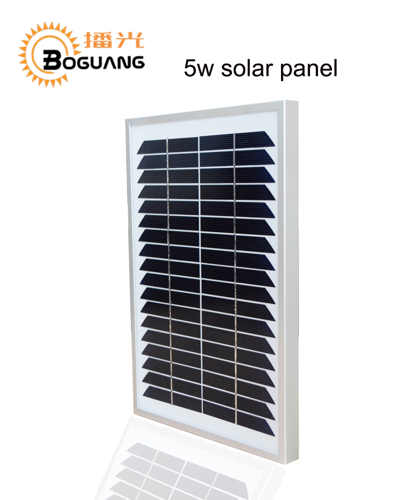 Bogaung 5w solar panel Monocrystalline cell module china 12V high quality Multi-Purpose cell power light battery SOLAR charger