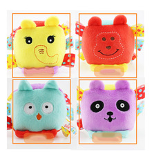0-3Years Baby Toys BB Fabric Rattles in Many Different Animal face Enlightenment Cognitive toys Children Soft