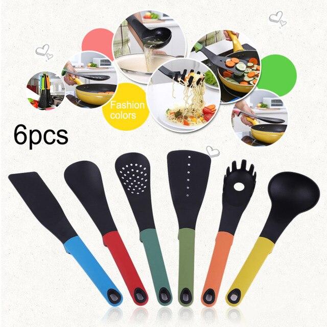 6pcs set home use non stick heat resisting nylon cooking for Kitchen tool 6pcs set