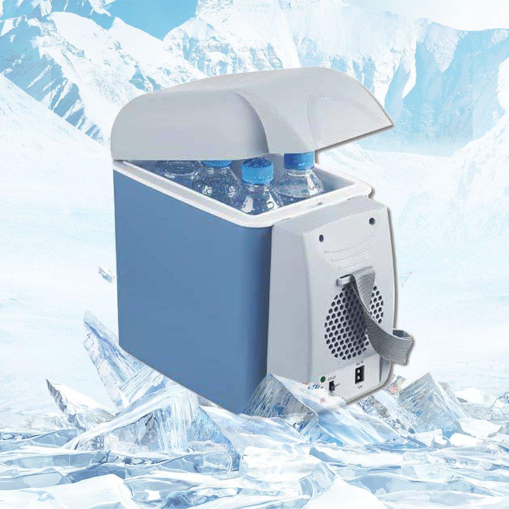 Mini Multifunctional Car Fridge Portable 7.5L Freezer Cooler Warmer 12V Mini Camping Refrigerator Outdoor Refrigerator mini usb heater cooler fridge silver