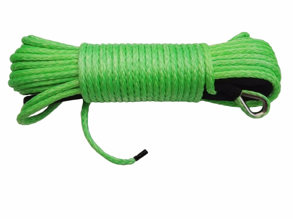 Green 1/4*80ft Replacement Synthetic Rope for Winch,ATV Winch Cable,Off Road Rope,ATV Winch Line