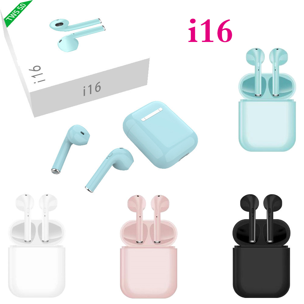 i16 <font><b>TWS</b></font> Wireless Earphone Bluetooth 5.0 1:1 Air Mini Wireless Bluetooth 3D bass Ear Buds PK i10 i12 i13 <font><b>i14</b></font> i15 i18 <font><b>tws</b></font> image