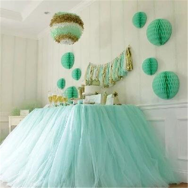 Casamento Wedding Decoration Tulle Tutu Table Skirt Tableware Baby Shower  Birthday Party Decorations Kids Table Decorations