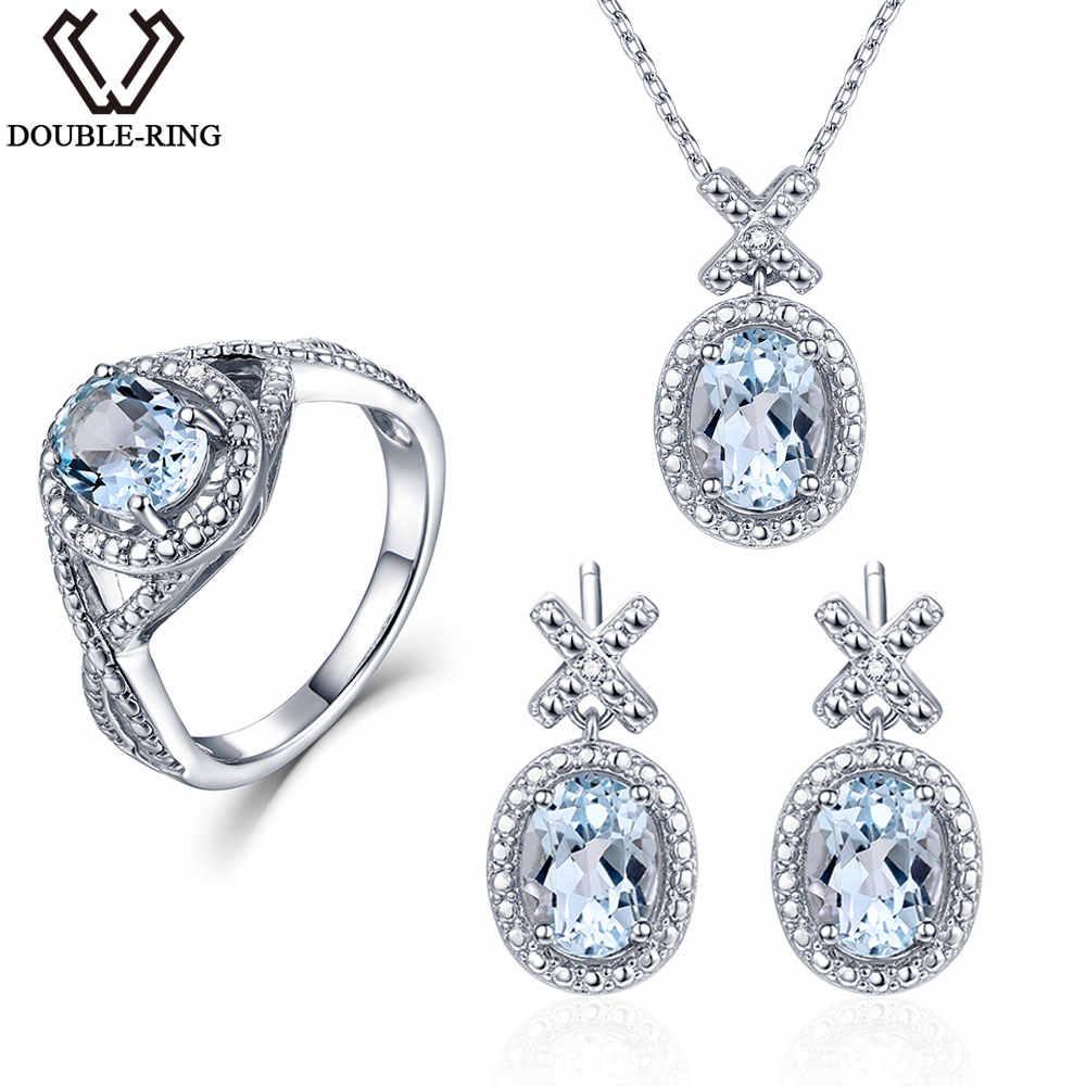 Double R 0 03 Ct Natural Diamond Bridal Wedding Jewelry Sets Women