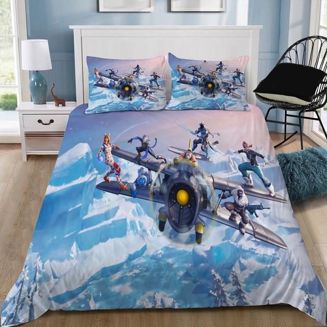 Fortinet игры Fortnit битва Royale 3D постельное бельё Печатных Набор пододеяльников для пуховых одеял набор Twin queen King Размеры настроить дропшиппинг
