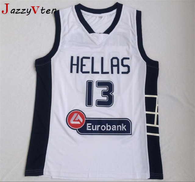 online retailer 8aec9 0424d 2018 Mens Cheap Throwback Basketball Jersey Hellas Giannis Antetokounmpo  13# Greece White Stitched Retro Shirts-in Basketball Jerseys from Sports &  ...