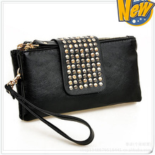 Fashion Women / Men Wallets PU Leather Wallet Double Zipper Day Clutch Purse Wristlet Portefeuille Handbags Carteira Feminina