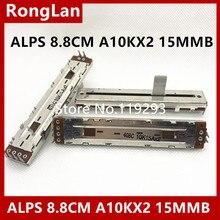 [Sa] alps 8.8 cm 88mm 10kax2 potenciômetros de corrediça 10k15ax2 10kax2 a10kx2 15mm axis 5PCS/lot