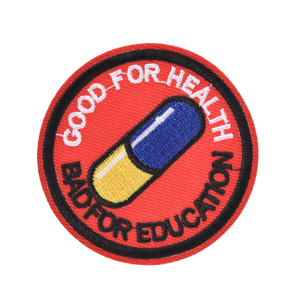 1pc Japanese Akira Kaneda Good for Health, Bad for Education Iron on Patch