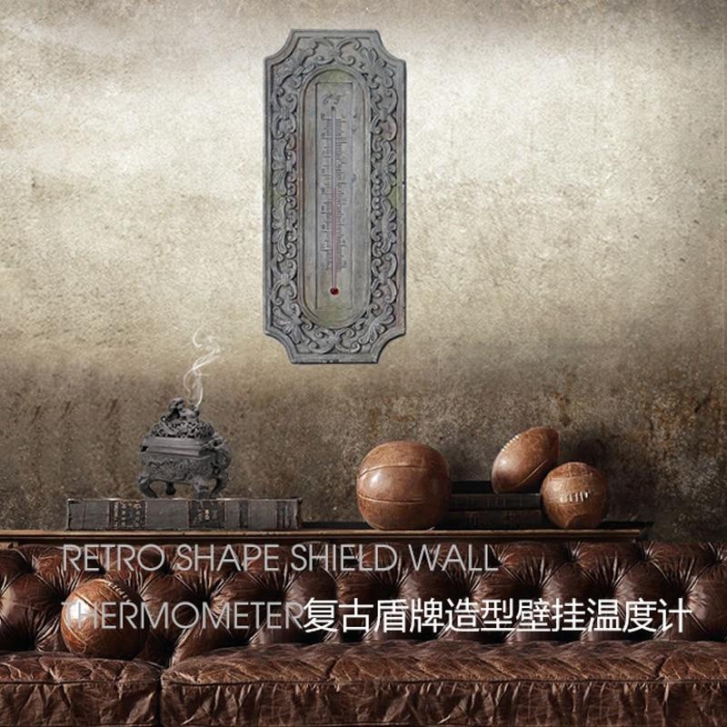 Barokke muur thermometer europese retro hars 3D stereo wanddecoratie thermografiek handwerk van woonkamer of cafes - 2