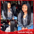 Long silky straight high ponytails full lace wig with adjustable straps &glueless lace front wig for woman baby hair 150%