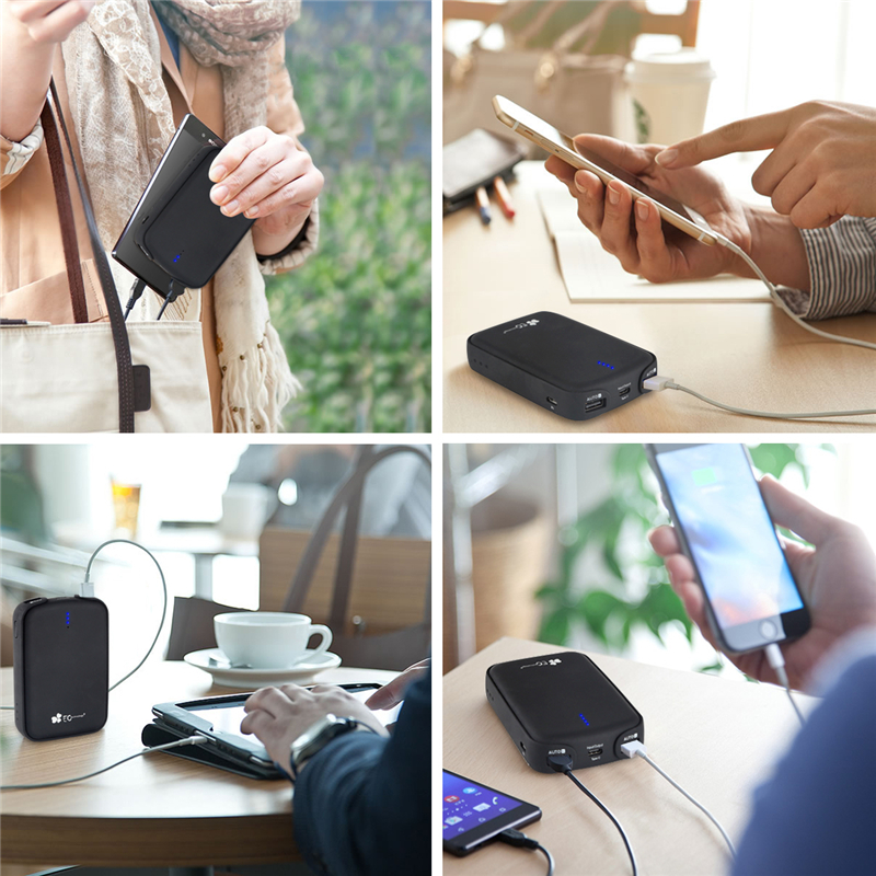 Type-C 12000mah Power Bank 18650 Dual USB Mobile Phone Charger Powerbank For iPhone 7 6 6s Xiaomi mi5 Redmi3 Pover Bank