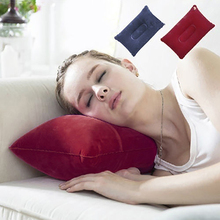 Portable Inflatable Flocked Air Pillow for Rest Bed Travel Cushion