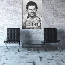Большой размер Печати Маслом Пабло Эскобар Кружка Выстрел 1991 Вертикальная Настенная живопись Декор Стены Искусства Картина Без Рамки