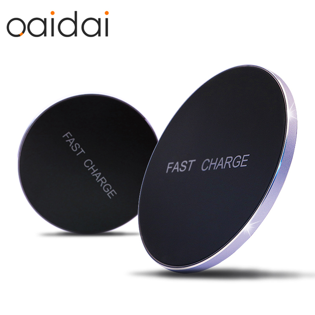 5V 2A Quick Charge Qi Wireless Charger For iPhone X 8 Plus Nexus 6 For Samsung S8 Plus Note 8 S7 S6 Edge QC Charging Pad