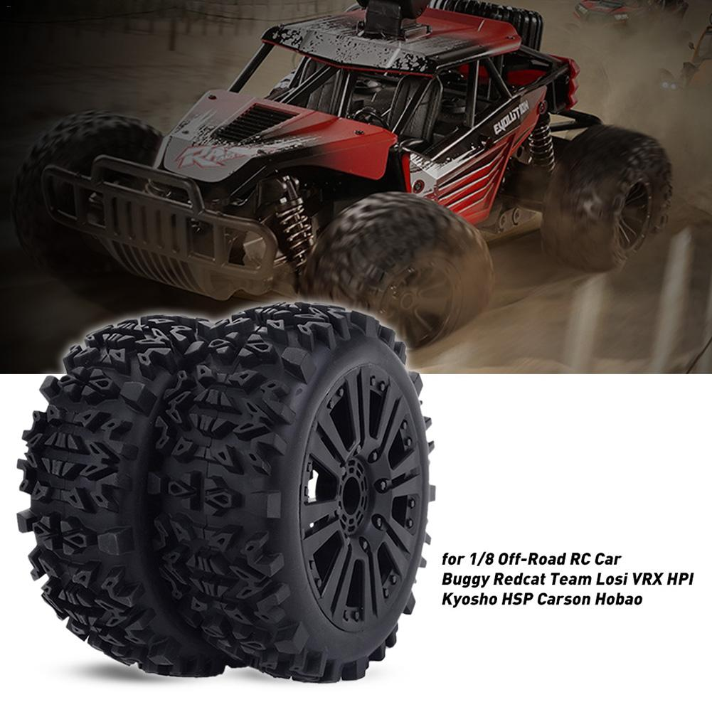 17mm Hub Wheel Rims Tires Tyre For 1/8 Off-Road RC Car Buggy Redcat Team Losi VRX HPI Kyosho HSP Carson Hobao For RC Accessories
