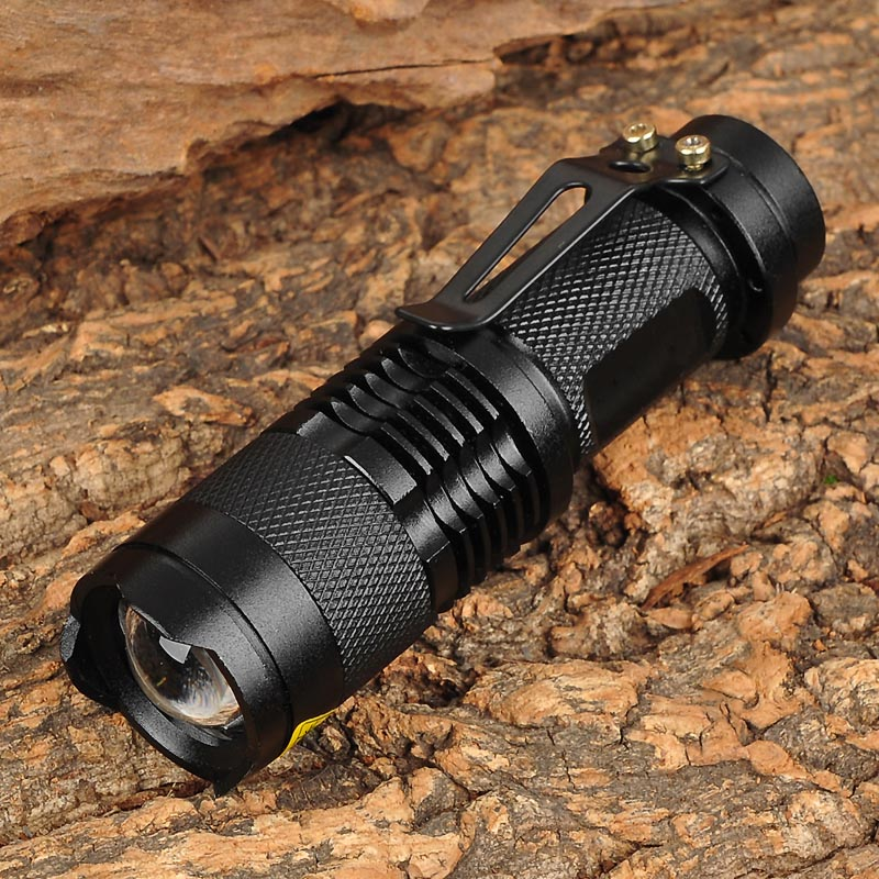 UltraFire SK68 80~150lm 3-Mode White Light Zooming Flashlight XR-E Q5 LED Lamp Pocket Torch (1 x 14500 battery + charger) zhishunjia led 6500k 200lm 3 mode mini white light zooming flashlight coffee 1 x 14500