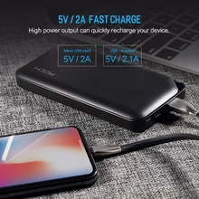 Slim Power Bank 10000mAh Universal Powerbank for Xiaomi Portable External Battery Charger for iphone 6 7 8 X