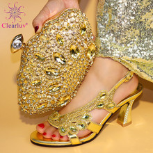 Latest Design African Matching Shoes and Bags Italian In Women Nigerian  Women Wedding Shoe and Bag c143bb396789