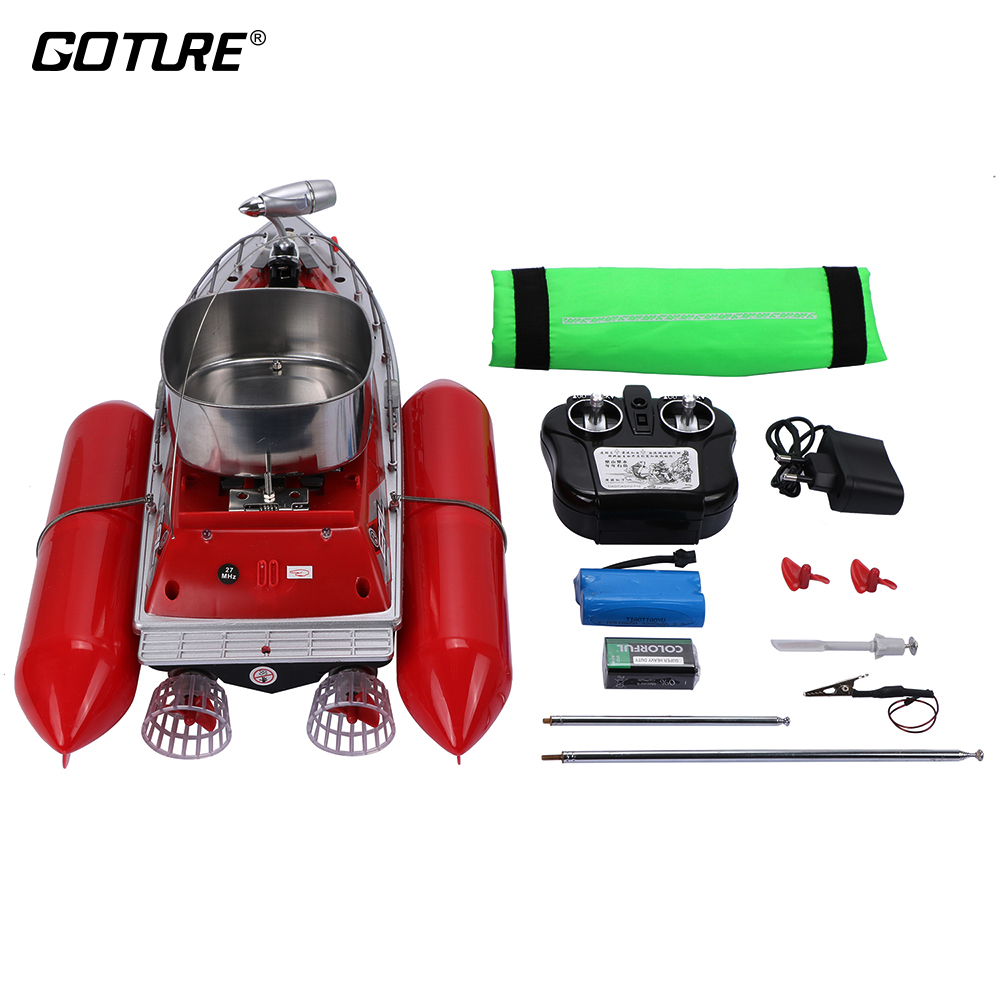 Goture Fishing Bait Boat RC Boat 260M Remote Control 5 or 8 Hours Power Red/Green Feeder Lure Carrier Carp Fishing Accessories mini fast electric fishing bait boat 300m remote control 500g lure fish finder feeder boat usb rechargeable 8hours 9600mah