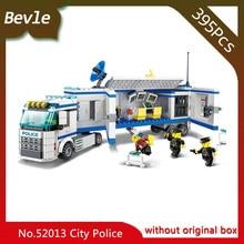 Bevle Store LEPIN 52013 395Pcs CITY Series Mobile Command Team Model Building Blocks set Bricks For Children Toys Wange Gift