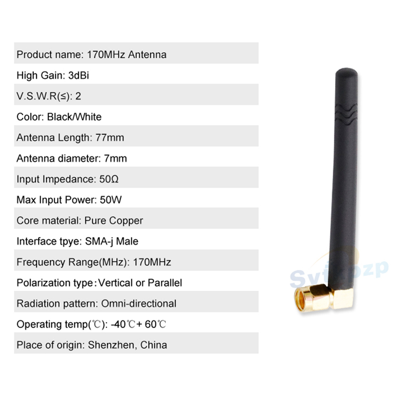 Image 4 - High Gain SMA J Male 3dBi 170MHz Antenna vhf Transceiver Omni Directional Antennas 170MHz Wireless rf Module Transmitter Antena-in Communications Antennas from Cellphones & Telecommunications
