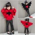 Baby Girl Boy Ropa de Cuello Redondo Suéter Caliente Niños Toddler Kids Bat Decoración Otoño Invierno Suéter de Punto Flojo