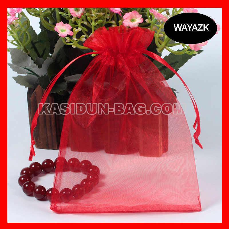 (500 шт./лот) оптовая продажа, качественный красный подарок, Сумка из органзы 10x15 см