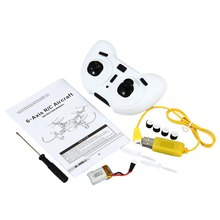 6-Axis Gyro LED Light Mini RC Quadrocopter with Headless Mode