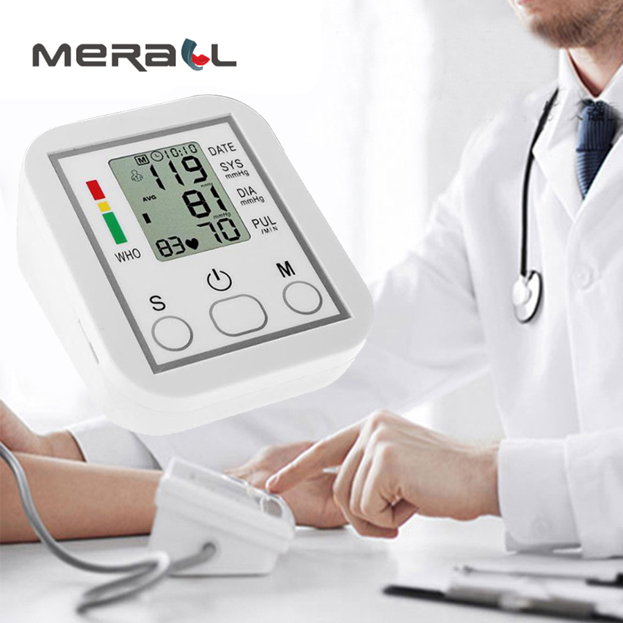 Arm Blood Pressure Monitor Digital Lcd Upper Heart Beat Meter Machine Tonometer For Measuring Automatic Home