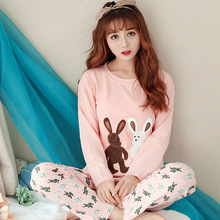 Здесь можно купить  2017 pajamas set, autumn outfit, ladies cartoon long sleeve, pure cotton fresh student girl, Princess wind  home clothes