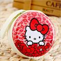Hot Kitty Cute Cartoon Candy Color Silicone Coin Purse Key Wallet Earphone Organizer Storage Box Headset Charger Bag Storage Box