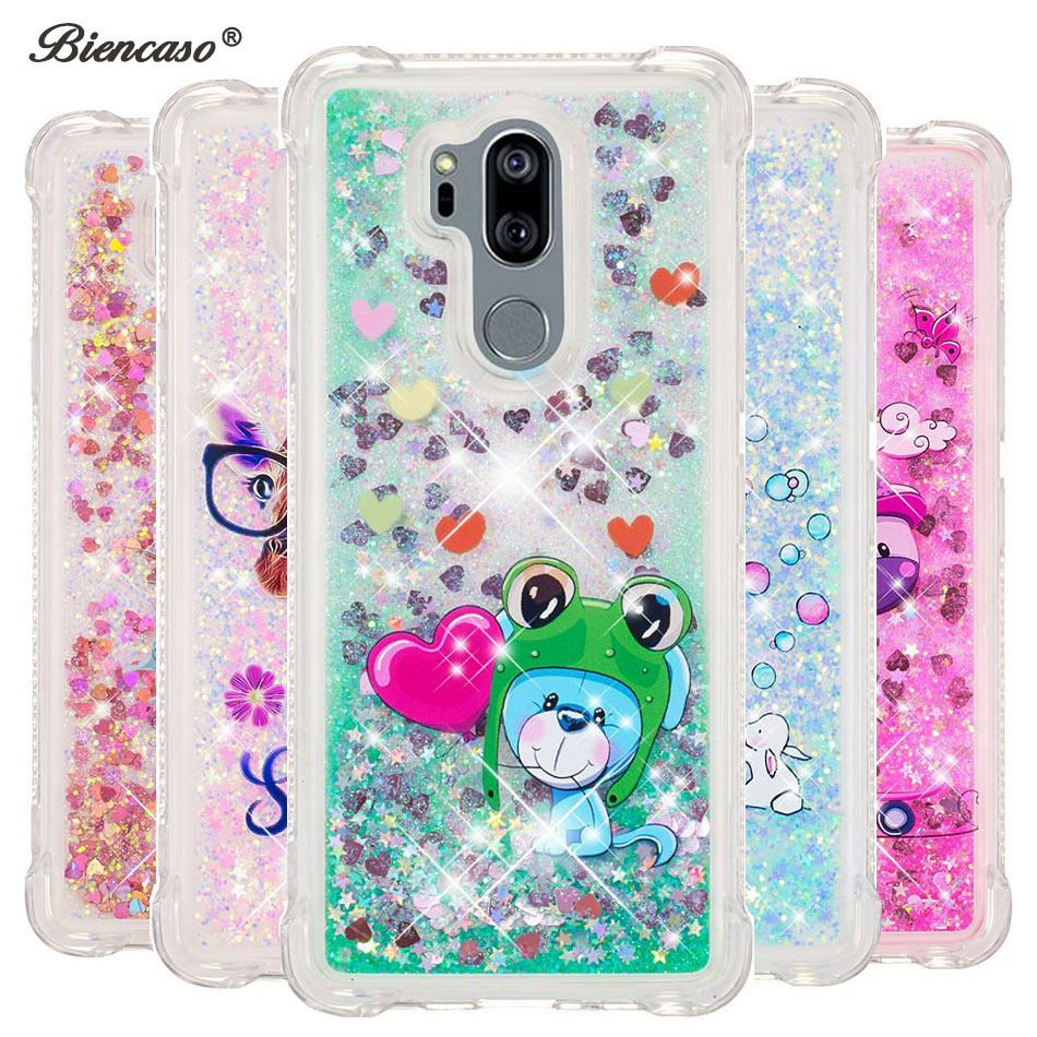 Half-wrapped Case Soft Silicone Case Lg Q Stylus Stylo 4 Bling Glitter Stars Dynamic Liquid Quicksand Phone Cover Funda Stylo4 Q710ms Lmq710naw For Fast Shipping