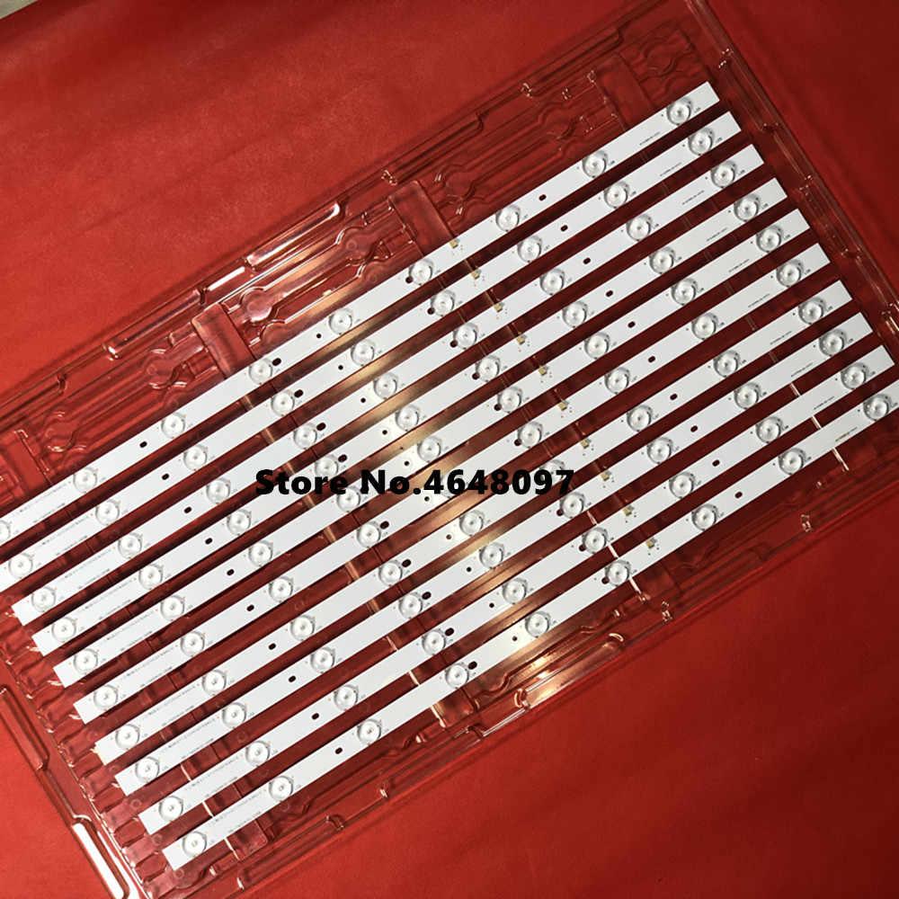 600 مللي متر * 17 مللي متر 9 المصابيح 6 فولت العالمي LED الخلفية شرائط ث/عدسة بصرية ل 39 ''40'' شاشة التلفاز 3BL-T6004101-004B 3BL-T6004101-009B