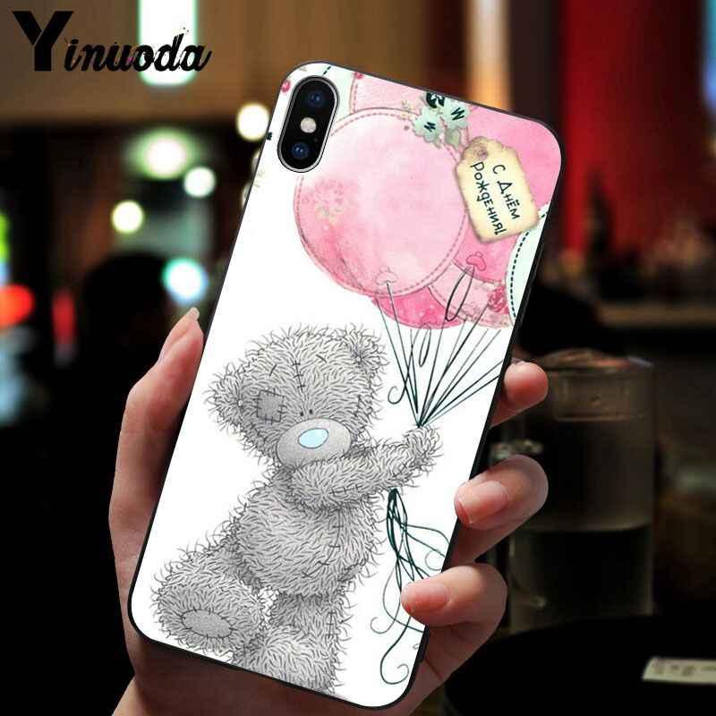 11pro MAX Tatty Teddybeer Me Om U Zachte Siliconen zwarte Telefoon Case voor iPhone X XS MAX 6 6s 7 7plus 8 8Plus 5 5S SE XR