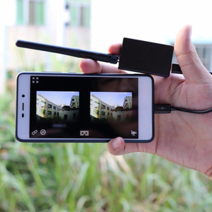Image 2 - 5.8G UVC Receiver + 25mW/100mW 5.8G 48CH VTX 600TVL FPV Camera Transmitter Video Downlink OTG VR Smartphone for FPV Racing Drone