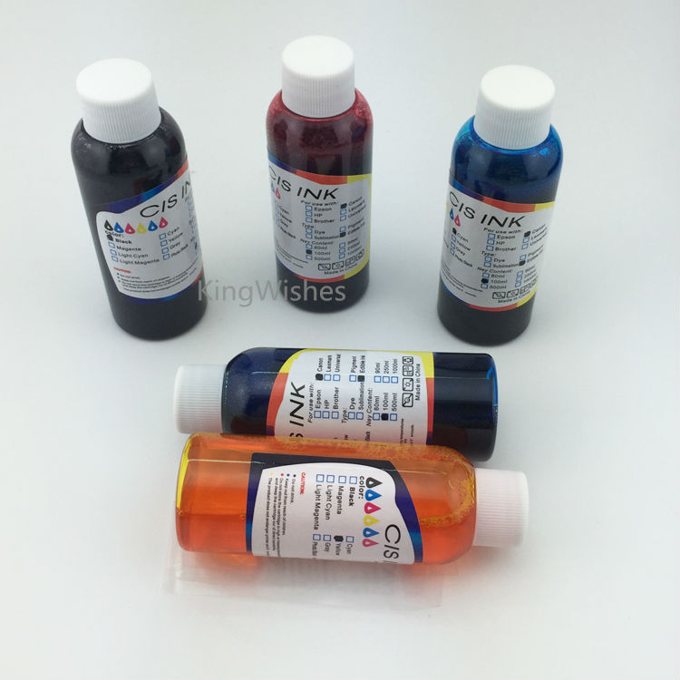 ФОТО Latin America Model 5PCS x 100ML T2690 T2691 T2692 T2693 T2964 Edible Ink For Epson XP-702 XP-802 Inkjet Printer