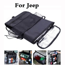 car styling Car Seat Multi Pockets Storage Bags Pouch,Insert Drink&Tissue Holder For Jeep Liberty Renegade Wrangler Commander