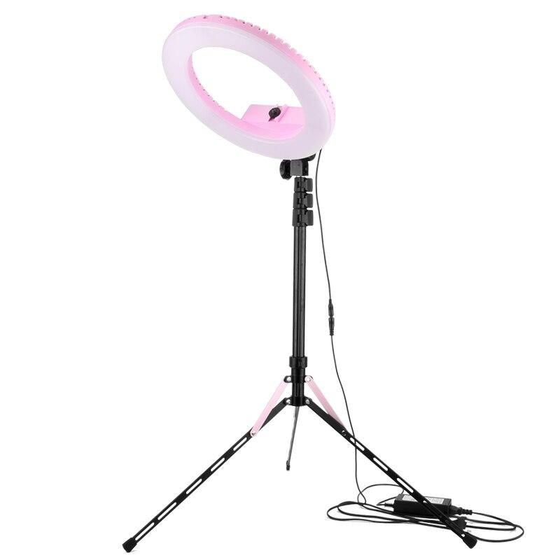 LED lumière 20 w 13 pouces téléphone et led caméra lumière studio avec trépied maquillage led photographique selfie cercle anneau lumière pour Vidéo